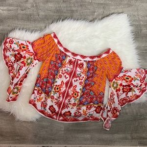 Flying tomato off the shoulder blouse
